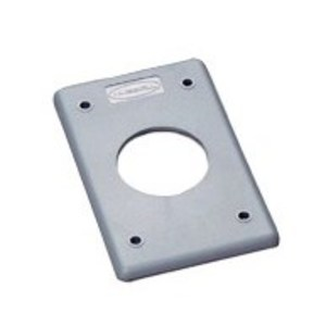 "Hubbell-Wiring Kellems HBLP720FS POB COVER PLATE, 1.60"", GRAY"