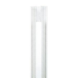 """Panduit CWD4WH6 Corner Wiring Duct, Base Only, 5.33"""" W x 4.58"""" H x 6' Long, PVC, White"""