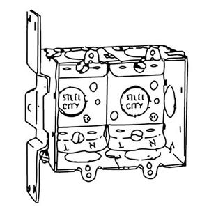 Steel City LXWV-2G 3x2x2-1/2,swbx,stl,12.5cu,gngble,ear,clp