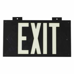 38097B PHOTOLUM EXIT SIGN 1 SIDED W/MNT