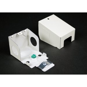 Wiremold WH2010A3 Entrance End Fitting, Large, Plugmold 2000 Series, Steel, White