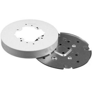 """Wiremold V5739 6-3/8"""" Solid Base Fixture Box, 500/700 Series Raceway, Ivory"""