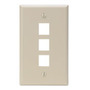 410803IP FACEPLATE 3 PORT IVORY