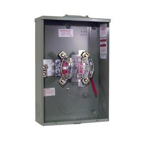 Milbank U4216-RXL Meter Base, 200A, 600VAC, 4 Jaw, OH/UG Service, 1PH, Ringless