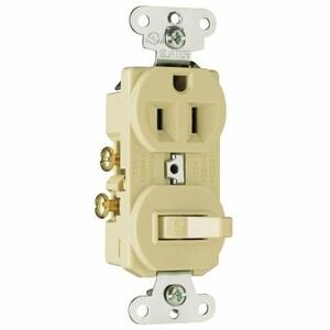 Pass & Seymour 691-I Switch / Duplex Combination, 15A, Ivory