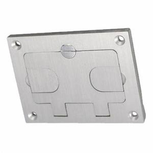 Wiremold 828COMTCAL RECT RECESSED COMM COVER ALUM