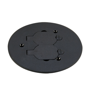 "Wiremold 895P-BLK Round Duplex Receptacle Cover, 5-1/2"" Diameter, Non-Metallic"