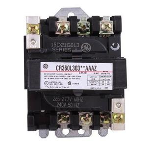 GE CR360L30313AAAZ Contactor, Lighting, 30A, 600V, 277VAC Coil, 3P, Open