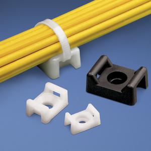 """Panduit TM3S10-C Cable Tie Mount, .86"""", Screw Applied, Nylon, Natural"""
