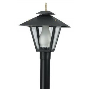 Wave Lighting 114 Colonial Post Top w/Glass Chimney, Black