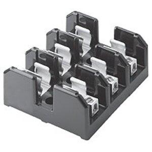 Eaton/Bussmann Series J60200-3CR Fuse Block, Class J, 3P, 101-200A, 600V, Box Lug w/Retaining Clip