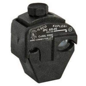 Ilsco IPC-4/0-6-B Insulation Piercing Connector, 4/0-4  AWG Run, 6-14 AWG Tap