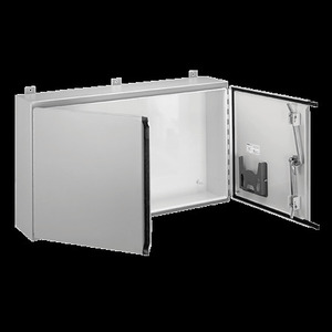 nVent Hoffman REXMOD-1609 Wall-Mount Enclosure, Continuous Hinge, Two-Door With Handle