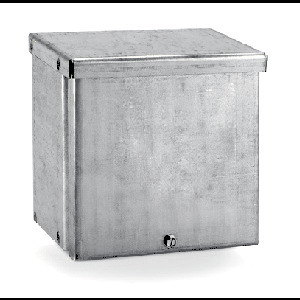 "E-Box 12126RBP Enclosure, NEMA 3R, Screw Cover, 12 x 12 x 6"", Steel/Gray"