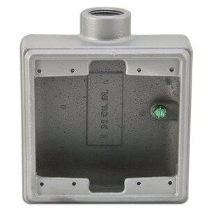 "Appleton FS275A FS Device Box, 2-Gang, Feed-Thru, Type FS, 3/4"", Aluminum"