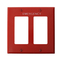 80409-REW RED WALLPLT 2G STD SIZE DEC