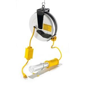 Hubbell-Wiring Kellems HBLC40182AFL CORD REEL, 40', W/FLUOR LAMP, AUTO SW.