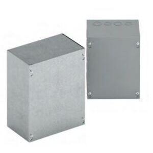"""Eaton B-Line 16164SCGV Junction Box, NEMA 1, Screw Cover, 16 x 16 x 4"""", Galvanized Steel"""