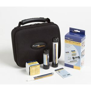 Fluke Networks NFC-KIT-CASE Cleaning Kit, Fiber Optic, Wipes, Cards, Solvent Pen, Swabs, Case