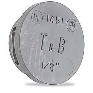 Thomas & Betts 1455 1-1/2IN KNOCKOUT PLUG THERMOPLASTIC