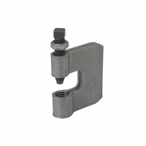 "Cooper B-Line B351L-3/8ZN C-Clamp, Rod Size: 3/8-16, Flange Max: 3/4"", Material: Steel"