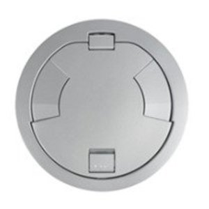 """Wiremold 8CT2AL Flush Style Cover Assembly, Diameter: 8"""", Aluminum"""