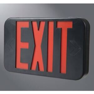 All-Pro Lighting APX7GBK LED Exit Sign, Green Letters, Black Housing, 120/277 Volt, Maintenance Free Nickel Cadmium Battery