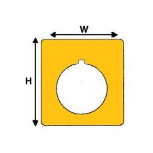 "Brady THTEP-169-593-.5YL Raised PanelLabel, Yellow,1.8"" H x 1.8"" W"