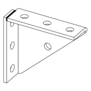 Eaton B-Line B888WZN UNIVERSAL SHELF BRACKET, WELDED, 7-HOLE, ZINC PLATED