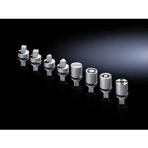 Rittal 2466000 Lock Insert, 27mm, Die Cast Zinc