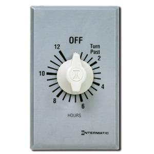 Intermatic FF412H 12-Hour DPST Timer, Brushed Aluminum/Sandstone