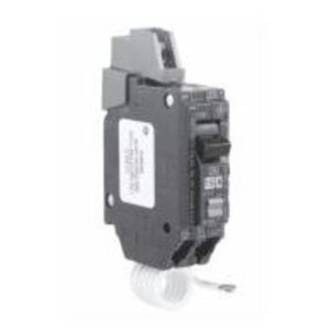 GE Industrial THQC1120GFT Breaker, 20A, 1P, 120VAC, Q-Line Series, GFCI, Lug In/Lug Out