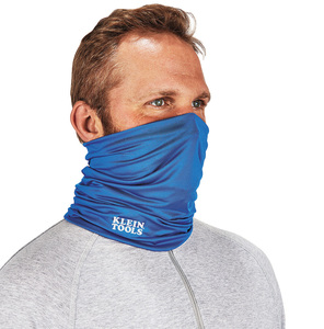 Klein 60439 Neck and Face Cooling Band, Blue Knit