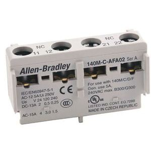 Allen-Bradley 140M-C-AFAR10A10 Breaker, Motor Protection, Auxiliary/Trip Contact, Front Mount, 2NO