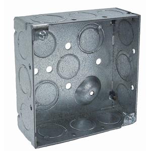 "Appleton 4SD-SPL 4"" Square Box, Welded, Metallic, 2-1/8"" Deep"