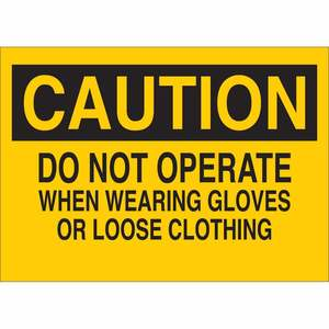 22878 MACHINE & OPERATIONAL SIGN
