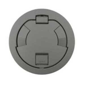 """Wiremold 6CT2GYTR Tamper-Resistant Flush Style Cover Assembly, 7-1/4"""", Gray"""