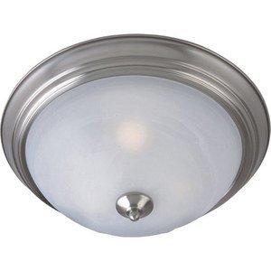 Maxim Lighting 85842MRSN Ceiling Light, 3-Light, 60W, Incandescent, Satin Nickel