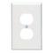 80503-W WHT WALLPLT 1G DPLX MID SIZE