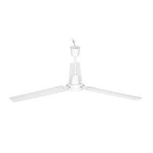 "Airmaster Fan MARK-I 56"" Ceiling Fan, Non-Reversible, White, 120V"