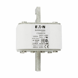 Eaton/Bussmann Series 170M6014 Fuse, 1000A, Square Body, Blade, Size 3, with Indicator, 690/700V