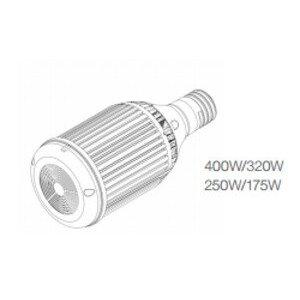 Lunera SN-H-E39-400W-320W-5000-G2 LED Retrofit Lamp, Horizontal Orientation, 145/120W, 5000K