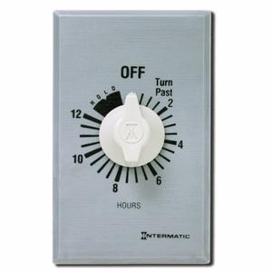 Intermatic FF12HHC 12-Hour SPST Timer, Brushed Aluminum/Sandstone