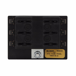 Eaton/Bussmann Series 15600-12-21 ATC Blade-Type Fuse Panel, Single Stud/Supply, 12 Spaces