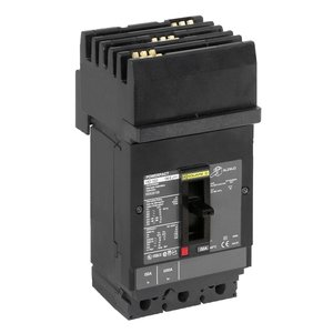 Square D HJA36060 Breaker, Molded Case, 60A, 3P, 600VAC, 25-100kAIC, PowerPact
