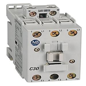 Allen-Bradley 100-C30KL10 Contactor, IEC, 30A, 3P, 200-230VAC Coil, 1NO