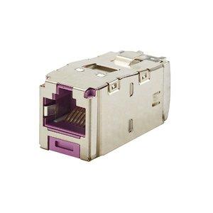 Panduit CJS5E88TGVLY Mini-Com Module, Cat 5e, Shielded, 8 pos *** Discontinued ***