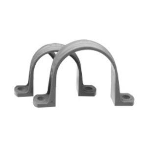 """Kraloy 078375 Conduit Strap, 2-Hole, Size: 1/2"""", Material: PVC"""