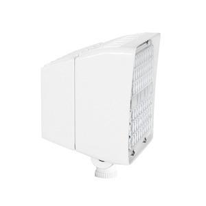 RAB PIP45W-D10 LED Floodlight, 45W, 5000K, 6300L, 120-277V, White Finish