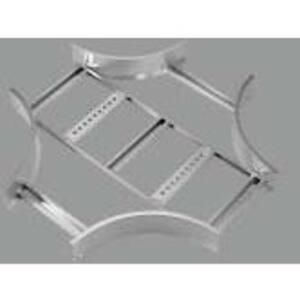 "Thomas & Betts AUF418LHX12 Cable Tray Horizontal Cross, 4"" Deep, 18"" Wide, 12"" Radius, Aluminum"
